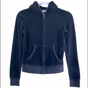 Juicy Couture Black Velour Sweatshirt
